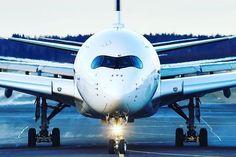 Airbus A350. Such a beauty! By instagr.am/aviacionaldia #avgeek