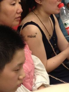 It finally happened! Random English tattoo spotted in China