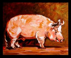 """""""Pork"""" Acrylic on canvas. 11x14"""