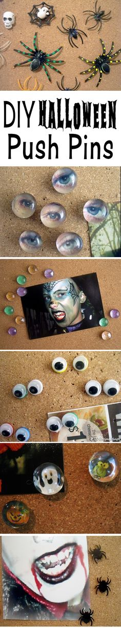 Diy Halloween Push Pins   A fun and easy Halloween craft for kids.