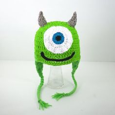 Mike Wasowski Monster Earflap Hat from Pixar\'s Monsters Inc., pleas...