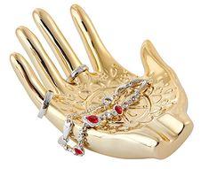 Jojuno Gold Plated Ceramic Embossed Hamsa Hand for Ring and Jewelry Holder. Size 148 x 110 x x x Jewelry Dish, Jewelry Rings, Jewelry Watches, Hanging Jewelry Organizer, Jewelry Holder, Stress Relief Gifts, Wire Wrapped Bracelet, Hand Ring, Small Rings
