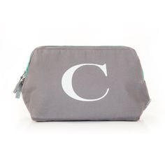 Looking for a personalized gift? The clever part of this wash bag is the stiff frame around the opening so that it stays in place, rather than collapsing, giving easy access to your bits inside.