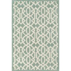 Hand-tufted Logan Mist Wool Rug (3'6 x 5'6) | Overstock.com Shopping - The Best Deals on 3x5 - 4x6 Rugs