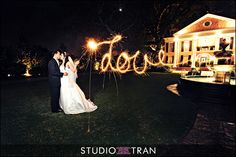Sparkler Fun - tips - Exactly how to make it look like the bride wrote Love