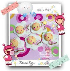 ˚**☼ ✫✫..¸.•Kawaii Egg Applique˚**☼ ✫✫..¸.•