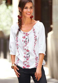 Blanc - autres - Femme - 3Suisses. Tee-shirt imprimé manches 3 4  élastiquées femme Exclusivité ... 42f7c004101