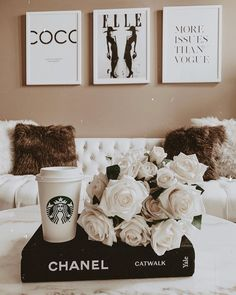 Hayley Larue Apartment Decor Neutral Living Room Decor Apartment Decor Home Decor Modern Decor Blondie in the City by Hayley Larue Chanel Decoration, Chanel Book Decor, Books Decor, Chanel Room, Best Decor, Classy Aesthetic, Living Room Update, Aesthetic Room Decor, My New Room