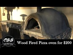 DIY Wood Fired Pizza Oven for $200 - YouTube