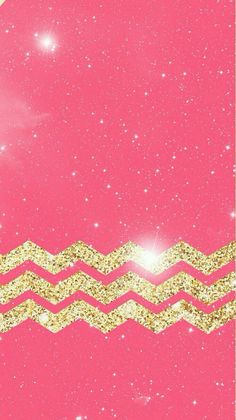 rosy pink & gold chevrons