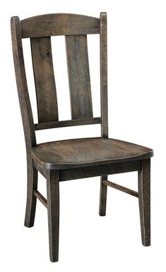 Quick Ship Gayle Rough Sawn White Oak Dining Chair Showing a worn, rough sawn look, the Gayle Dining Chairs fit a rustic or farmhouse kitchen perfectly. Exquisite solid wood dining chairs Amish made in America. #diningchairs