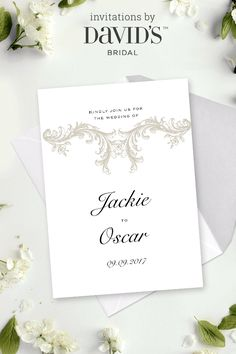 You're invited! Design tailored-to-you wedding invitations at David's Bridal today.