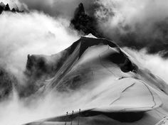 Alpine Climbers, France by Tommy Harris.  Photo Tip: Compose so that your eye moves gracefully around the frame, taking in all the elements in a harmonious way. [Catherine Karnow]  #photography #composition #tips
