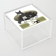 Mighty Boston Terrier Acrylic Box by edream Acrylic Box, Cute Gifts, Toy Chest, Boston Terrier, Toys, Storage, Home Decor, Beautiful Gifts, Activity Toys