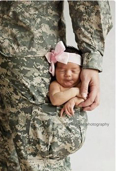 WHY didn't I think to do this when we brought my four pound little Melody home from the NICU?!  She would have fit perfectly in Daddy's pocket.