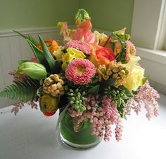 Fresh, feminine & stylish arrangement