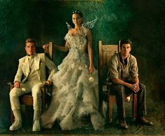 Peeta, Katniss, and Gale in Catching Fire