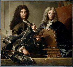 Hyacinthe Rigaud, Charles Le Brun et Pierre Mignard, 1730, Paris, Louvre