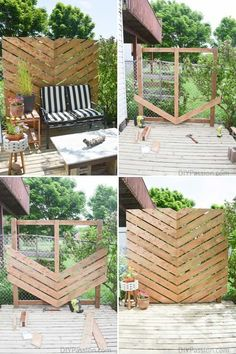 Worth trying 10 DIY Backyard Privacy Screen ideas for you. They are listed neatly, beautiful, organized, and features 10 DIY Backyard Privacy Screen ideas incude a video That you can take to upgrade your backyard or garden privacy. Next, You'll also find Backyard Privacy Screen, Privacy Landscaping, Backyard Fences, Privacy Screens, Patio Fence, Landscaping Ideas, Backyard Planters, Balcony Garden, Diy Fence