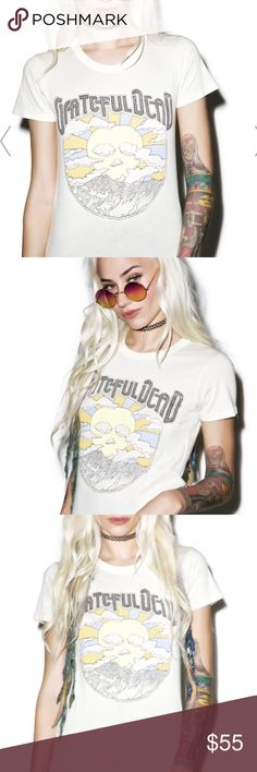 Greatful dead tee lightly yellowish cream color Brand new! Vintage style-NWOT Tops Tees - Short Sleeve
