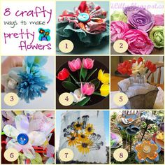 8 crafty ways to make flowers