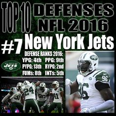 Darrelle Revis, Marcus Gilchrist and Calvin Pryor kill it in the secondary, but are not the strength of this defense. The new wave of dominance for the Jets is their front 7. The front 7 for this Jets defense is relentless and is elite at stopping the run. Leonard Williams came onto the NFL scene with a bang and is already making a huge difference on the line, and Muhammed Wilkerson is a top 5 defensive end. http://www.prosportstop10.com/top-10-defenses-in-the-nfl-2016/