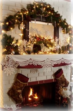 Christmas Decorations To Make For Mantels Using Burlap