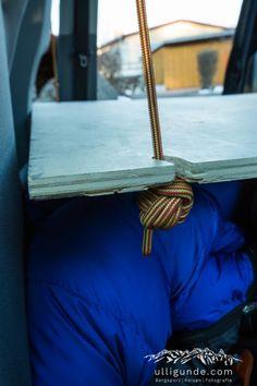 Einfach und günstig: Unser Bett im VW Caddy