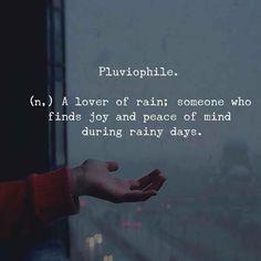 Pluviophile (n.) a lover of rain.. via (http://ift.tt/2wEELZU)