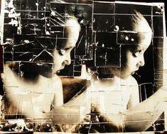 """doug and mike starn - """"biography"""", photomontage."""