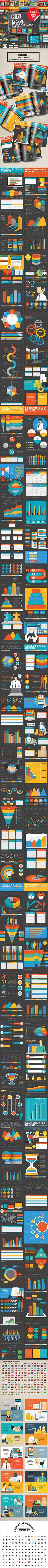 Bundle Infographic Set — Vector EPS #bar #display • Download ➝ https://graphicriver.net/item/bundle-infographic-set/19413630?ref=pxcr
