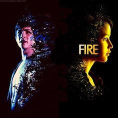 Percy Jackson / Katniss Everdeen / Hunger Games / Ice / Fire / Girl On Fire