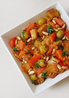 caponata siciliana o estofado de berenjenas 🍆🍲