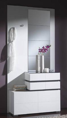 Mueble zapatero y recibidor de conforama zapateros for Espejos de salon conforama