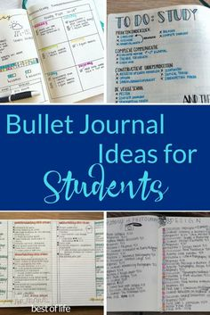 The best and easiest bullet journal ideas for students will help you get organized, focus on learning, and pass that class your way. via @AmyBarseghian