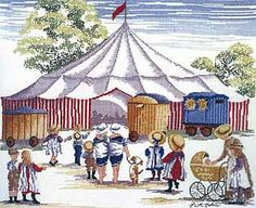 The Circus Comes to Town - All Our Yesterdays Cross Stitch Kit By Faye Whittaker