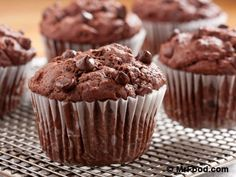 Colossal Chocolate Muffins - There's nothing small about these double chocolate muffins!