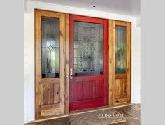 Your home's door is the first thing people see when they walk in. Have a custom door handcrafted from wood & glass by expert artisans to your specifications Wood Glass, Exterior Doors, All Design, Building Design, Paint Colors, New Homes, Barn Doors, Places, Handmade