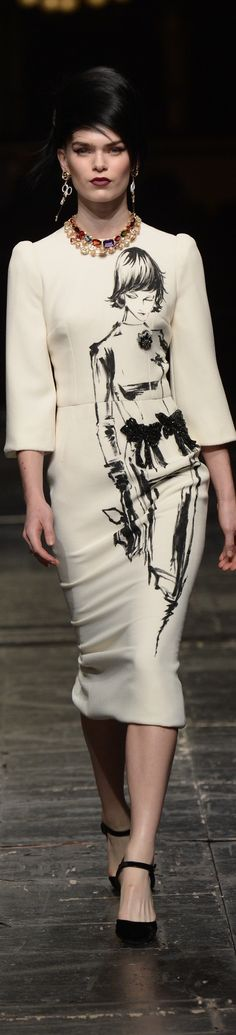 Dolce & Gabbana spring 2016 couture women fashion outfit clothing style apparel @roressclothes closet ideas