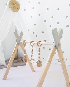 Our handmade modern timber play gyms are perfect to stimulate your baby's senses and are designed to help your baby learn skills such as...