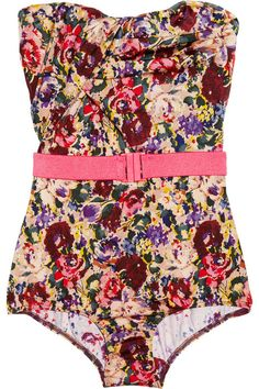 ZIMMERMAN  Savannah floral print strapless swimsuit
