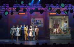"""Corny Collins Show - Studio Ceiling *use existing panels in or quarter fly to depict studio lighting, mics, """"on air"""""""