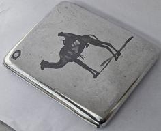 Fine Antique Iraqi Islamic Solid Silver & Niello Cigarette Case c1925.Signed