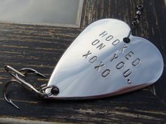 Hooked on You XOXO Valentine Gift for by CandTCustomLures on Etsy, $19.00