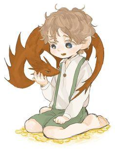 Bilbo and smaug :D