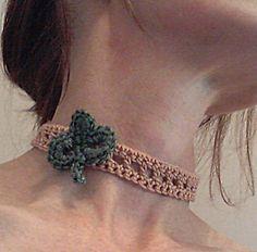 Thursday Handmade Love Week 72 - Crochet Addict UK. Theme: necklaces St_pattys_choker_2_small2