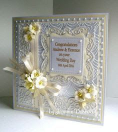 Use of square filigree boarders use of different colour Hand Made Greeting Cards, Making Greeting Cards, Pretty Cards, Love Cards, Wedding Cards Handmade, Spellbinders Cards, Engagement Cards, Wedding Anniversary Cards, Embossed Cards