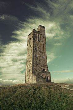 One of my favourite places in the world - my grandparents ashes are scattered here and when I see this tower on the horizon I know I am nearly home - Castle Hill, Huddersfield Yorkshire England, Yorkshire Dales, North Yorkshire, England Uk, Northern England, Huddersfield Yorkshire, Huddersfield Town, Art And Architecture, Monument Valley