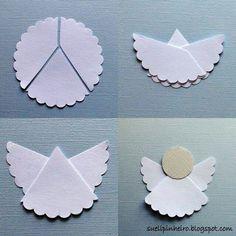 Ángel de papel ... angel craft idea