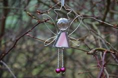 Pink Stained Glass Fairy